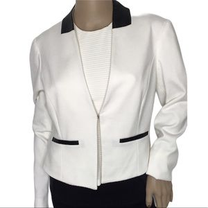 Sandro Faux Leather Trim Blazer- Cardigan Sz S
